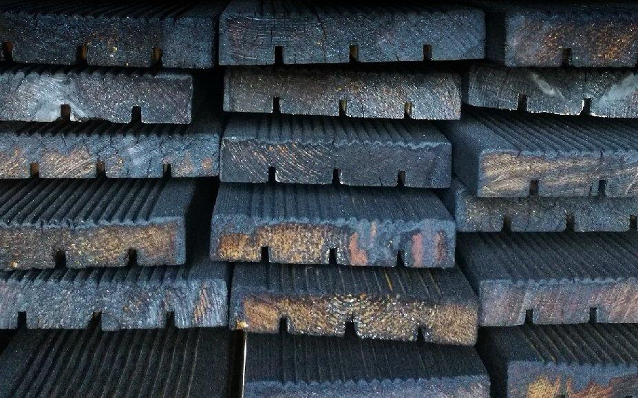 Charred Timber - PermaChar process - Shou sugi ban treatment