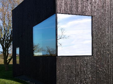 PermaChar charred timber cladding- cladding and window detail