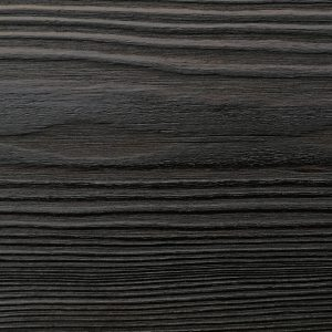 Close up of charred timber cladding - charred level: Raven