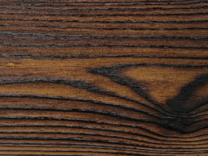 Close up of charred timber cladding - charred level: Shade