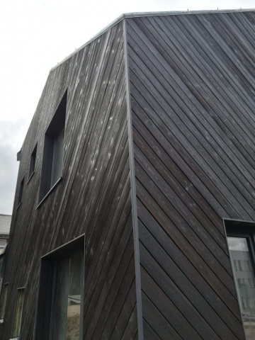 PermaChar® Dusk timber cladding