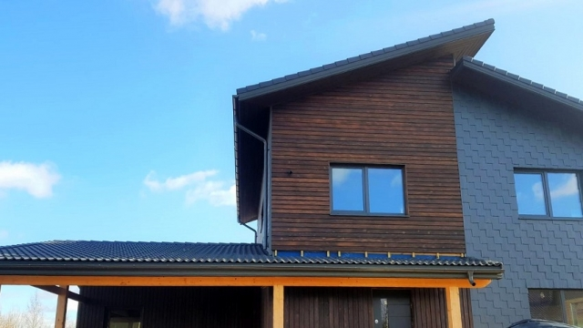 PermaChar® Charred Timber Cladding - Char Level: Shade
