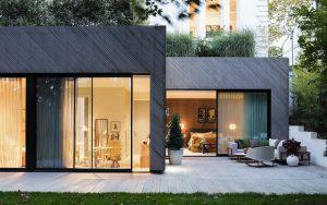 PermaChar® Raven timber cladding