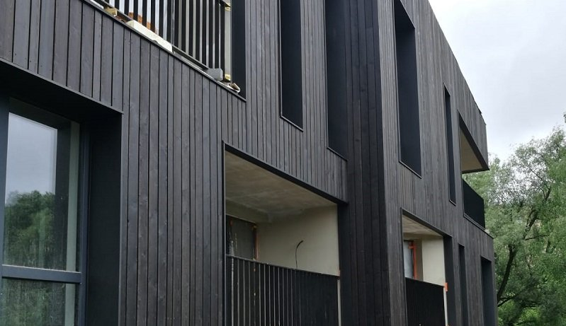 Building with PermaChar charred timber cladding in Dusk
