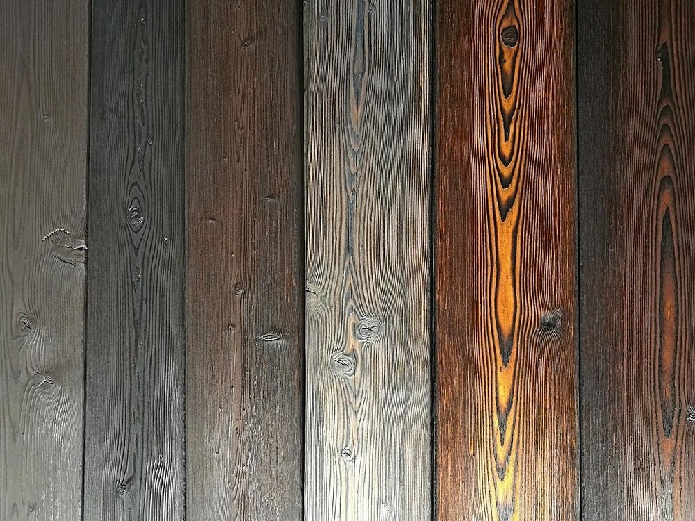Charred Timber Cladding Colour Choice