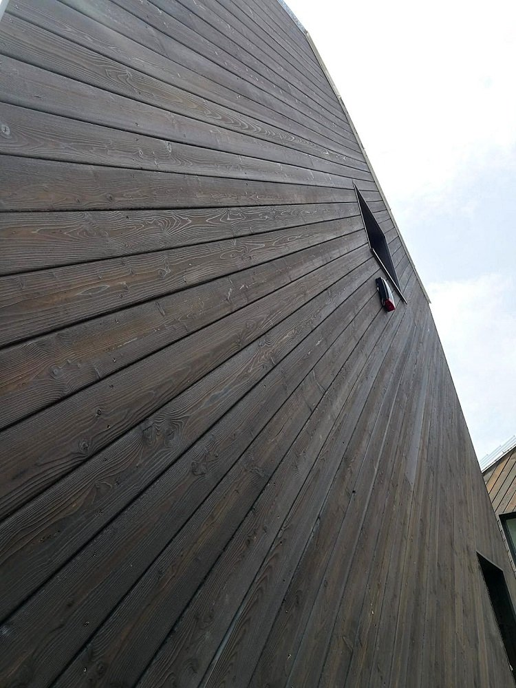 PermaChar Charred Larch Cladding - Colour Dusk