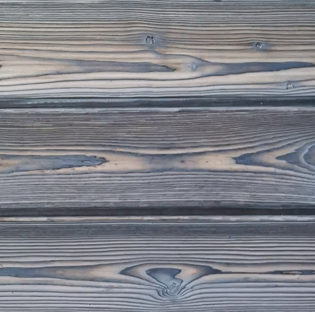 Ice Grey Charred Timber Cladding from PermaChar