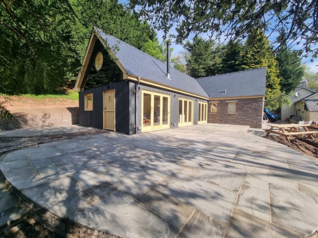 Permachar Raven Larch Cladding to Extension